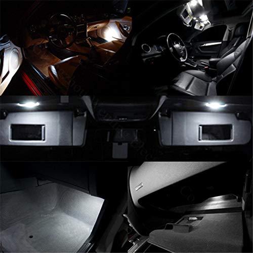 Wljh 2x T10 194 ampoule LED 6000K Blanc pur 2825 T10 W5W 3030smd LED de remplacement de voiture auto Int/érieur d/ôme carte c/ôt/é marqueur Instrument de plaque dimmatriculation ampoules lampe