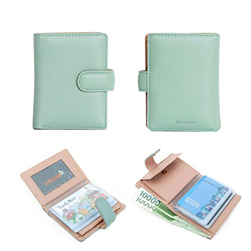 Latte Package (Natural Leather Latte Mini Slim Wallet Women Useful Multi Card Wallets Small Purse (Sky)
