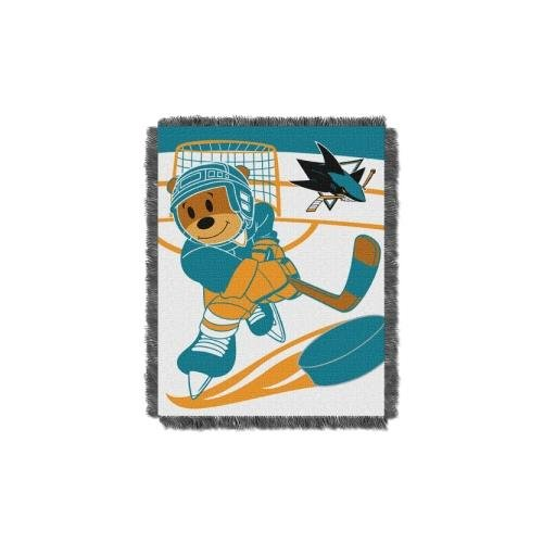 NHL San Jose Sharks Score Woven Jacquard Baby Throw, 36
