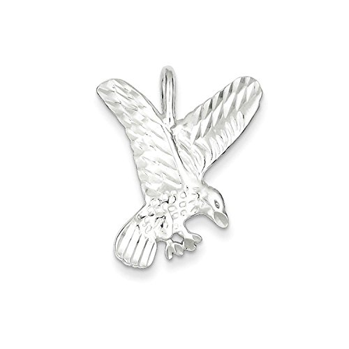Solid Eagle Charm Sterling Silver (Solid Sterling Silver Eagle Charm Pendant)