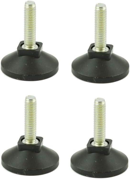 Patas niveladoras ajustables – Juego de 4 – Rosca M8 con diámetro de pie de 38 mm – Ideal para muebles, electrodomésticos y equipos pequeños