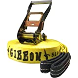 Gibbon Slacklines Classic Slackline, Yellow, 15 Meters, Outdoor Stuffs