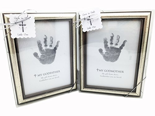 The Grandparent Gift Frame Wall Decor Godfather and Godmother Handprint (For Pet A Christmas Sponsor)