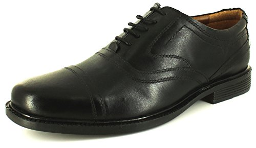 Mens/Gents Black Leather Upper Formal Lace Up Shoes In Xl Sizes - Black - UK SIZE 14