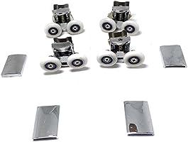Recambio de ruedas para mampara de ducha cromado – 4 x Top & 4 x ...