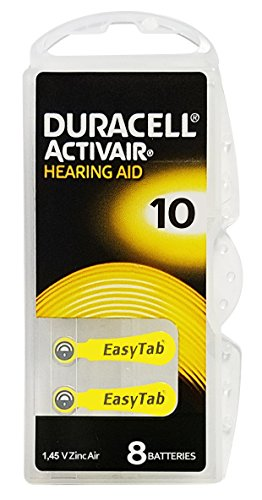 Duracell Quick Charger - Duracell Activair Hearing Aid Batteries: Size 10 (80 Batteries)