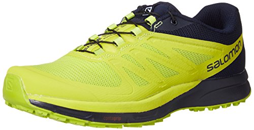 Salomon Sense Pro 2 Trail Running Shoe - Men's Navy Blazer/Lime Punch/Lime Green, US 9.0/UK 8.5