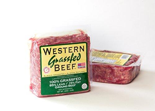 100% Grass Fed Ground Beef Bricks 85% Lean, 15% Fat (4 (Grass Fed Ground Beef)
