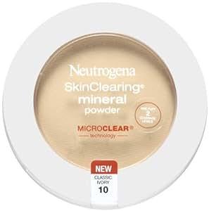 Neutrogena Skinclearing Mineral Powder, Classic Ivory 10, .34 Oz