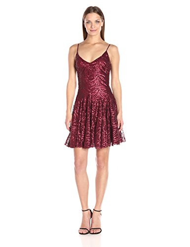 Betsey Johnson Women's Cocktail Sequins Short Dress, Brick Red, 2 - Betsey Johnson Cocktail Dresses