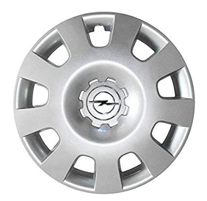 Opel Recambios Originales GM 1 x Tapacubo Plata Cromado 15 Pulgadas Astra H Zafira B 13191473