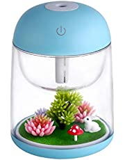 AEKAN Micro Landscape Humidifier with Changing Led Light,Adjustable Mist Mode, Waterless Auto Shut-off,for Bedroom,Office,Car (blue)
