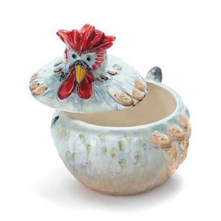 Sur La Table Jacques Pepin Collection Figural Covered Chicken Bowl G17BT ()