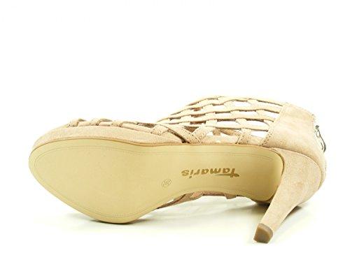 Beige 1 Mode Tamaris 28388 Femme 38 Sandales PYUxfwxqd1