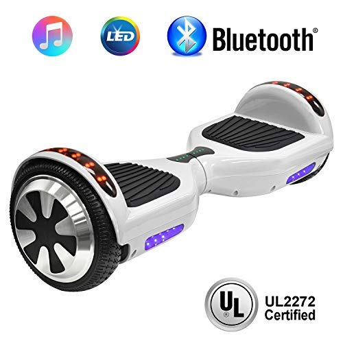 NHT 6.5'' Hoverboard Electric Self Balancing Scooter Sidelights - UL2272 Certified Black, Blue, Pink, Red, White (102 White) by NHT (Image #3)