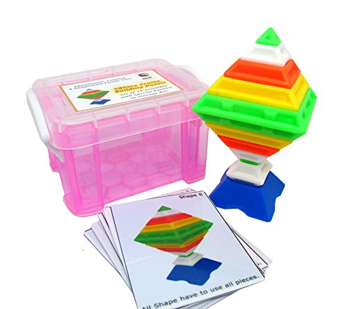 Square Frame Puzzle Game with Pattern Cards in Storage Box New Children's Basic Skills Development Toys