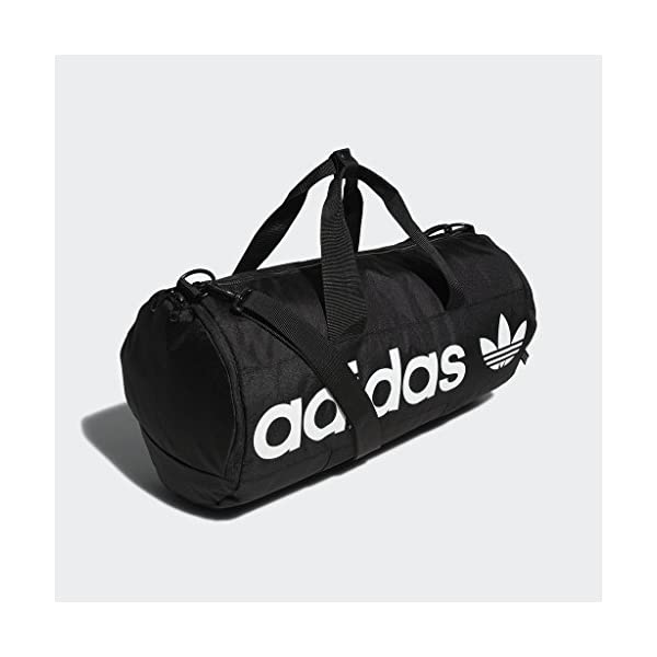 adidas Originals Paneled Roll Duffel Bag, Black, One Size 15