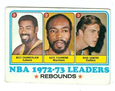 1973 Topps Basketball Card #157 NBA Rebound Leaders Wilt Chamberlain Nate Thurmond Dave Cowens (Poor ()