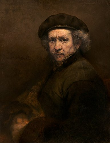 Self-Portrait - Masterpiece Classic - Artist: Rembrandt van Rijn c. 1659 (12x18 SIGNED Print Master Art Print w/Certificate of Authenticity - Wall Decor Travel - Portrait Signed Self
