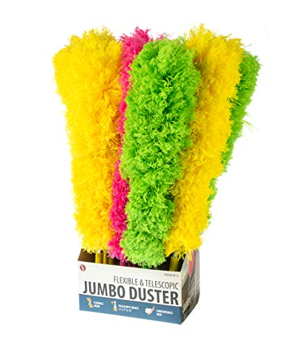 SE Assorted Color Flexible and Telescopic Jumbo Dusters (12 PC.) - EBD2602JB-12