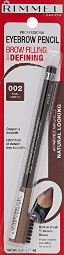 Rimmel London Professional Eyebrow Pencil 002 Hazel (Pack of 3)