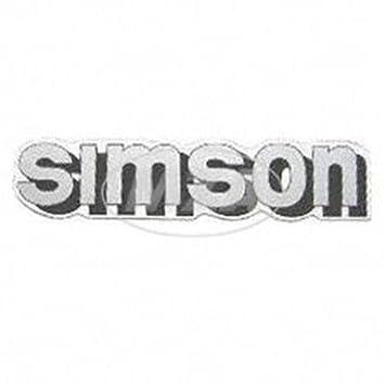 silber//schwarz Klebefolie Simson-Tank