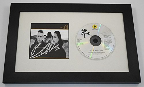 Autographed Display Framed (U2 The Joshua Tree Bono Hand Signed Autographed Music Cd Cover Compact Disc Framed Display Loa)