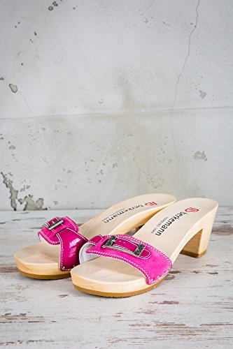 Berkemann Damen Holz Clogs Pink