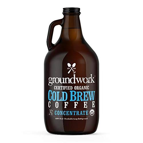 Groundwork COLD BREW COFFEE CONCENTRATE 32 Fl Oz | Pack of 6