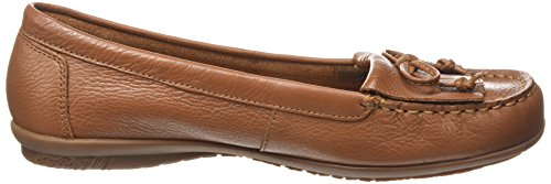 Hush Puppies Tan Ceil Mocc Fringe Detail Womens Loafer Shoes Tan Leather