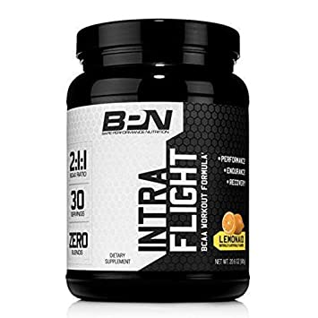 Bare Performance Nutrition Intra-Flight The Ultimate Endurance Supplement 2 1 1 BCAA Recovery Lemon-Aid, 30 Servings
