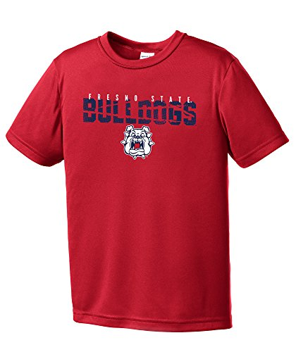 NCAA Fresno State Bulldogs Youth Boys Destroyed Short sleeve Polyester Competitor T-Shirt, Youth - Fresno Stores Clothing