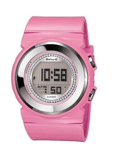 Casio Baby-G - Reloj digital de mujer de cuarzo con correa de resina rosa (cronómetro, alarma, luz) - sumergible a 100 metros: Casio: Amazon.es: Relojes