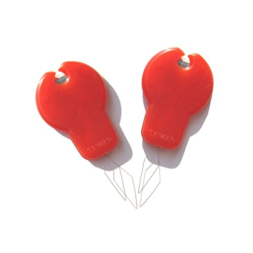 Needle Threaders with cutter [Pack of 2] by 6Patch