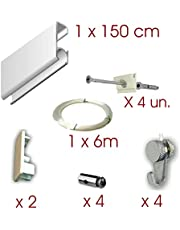 MARCS ARIAS SL Pack Basic RM de 150cm Guías de Aluminio (Blanco o Plata)