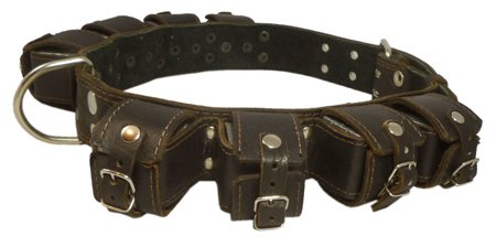 8lbs-Genuine-Leather-Weighted-Dog-Collar-2-wide-Exercise-and-Training-Fits-24-30-Neck-size