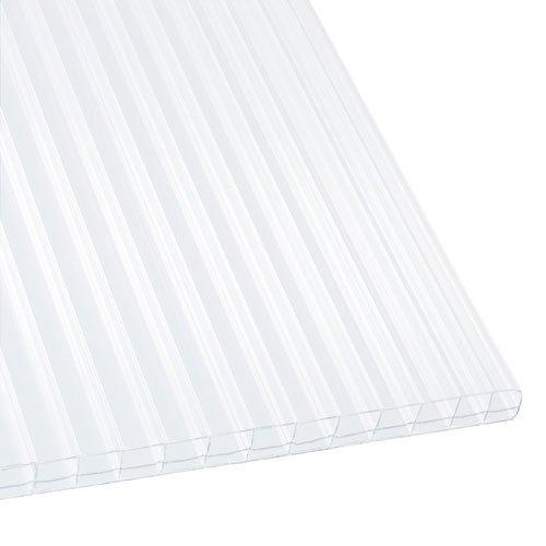 Polycarbonat Stegplatten Hohlkammerplatten weiß-opal 3000 x 1200 x 16 mm (35,97 EUR/qm)