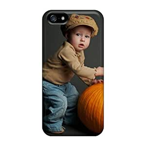 TinaMacKenzie Shockproof Scratcheproof People Children Baby And Pumpkin Hard Cases Covers For Iphone 5/5s