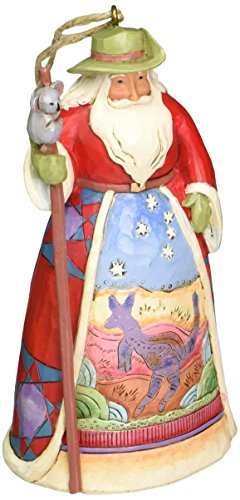 Jim Shore Heartwood Creek Australian Santa Stone Resin Hanging Ornament, 4.75""