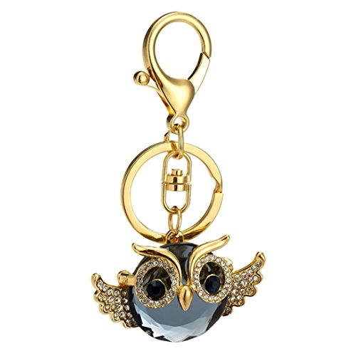 Yeefant Creative Owl Bag Hanging Accessories Decor Gift Pendant Handbags Ornaments Keychain Car Key Ring,1.1x1.9 Inch (Mickey Mouse Gold Pocket Watch)