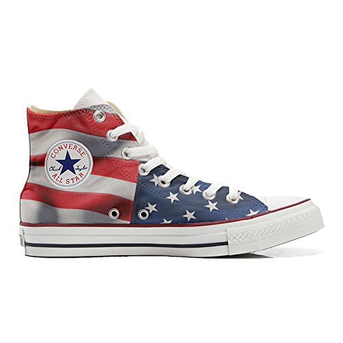 England Usa Your Japan Shoes produit Make chaussures coutume Customized Adulte EU 38 Converse artisanal size vfwCwzxqH