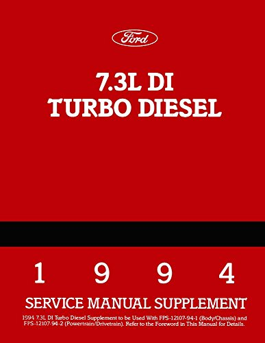 - bishko automotive literature 1994 Ford Truck 7.3 Turbo Diesel Engine Shop Service Repair Book Manual Engine