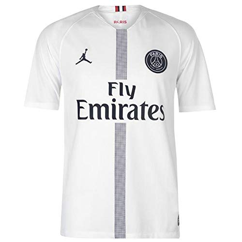 13 White Replica Football Jersey - Jordan Youth Paris Saint-Germain 18/19 Breathe Stadium White Third Replica Jeresy (S, White)