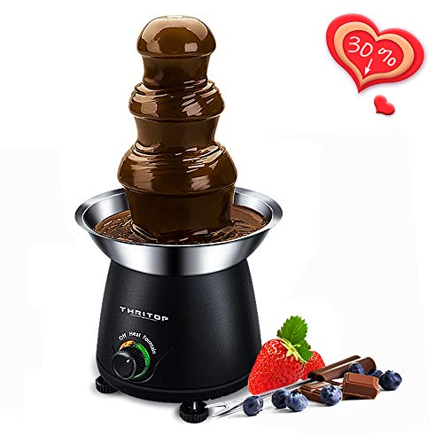 Buy Cheap THRITOP Chocolate Pro Fountain,3-Tier Stainless Steel Tower Chocolate Fondue, Fountain kit...