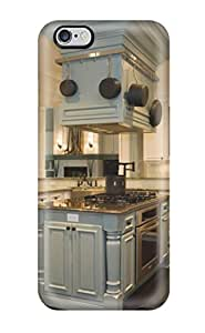 Cute Tpu ZippyDoritEduard Green Kitchen Island In White Kitchen With Pot Rack Circling Range Hood Case Cover For Iphone 6 Plus(3D PC Soft Case) hjbrhga1544