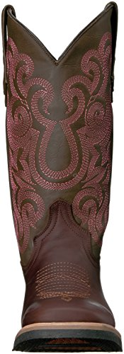 Ferrini Kvinna Damer Maverick Choklad Fyrkantig Tå Western Boot Choklad