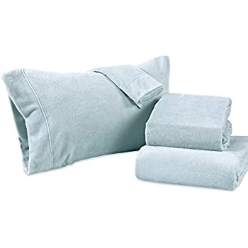 Berkshire Blanket Serasoft Set Plush Sheets, Queen, Winter Sky