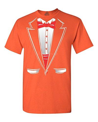 Mens Orange Tuxedo Costumes Tshirt (Shop4Ever Tuxedo Costume T-shirt Funny Shirts XXX-LargeOrange 11224)
