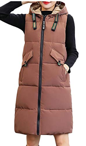 Coat Vest Women Thickened EKU Casual Jacket Down 1 Long Hooded qpwwt60v