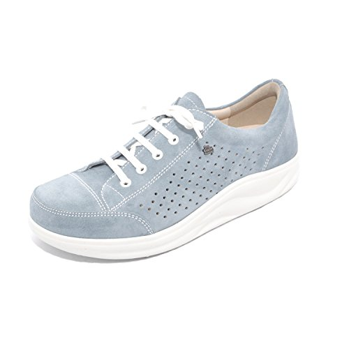 Finn Comfort - Zapatos de cordones de Piel para mujer Azul azul Azul - Ciel/Velour